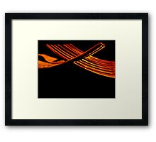 Fork Prongs Framed Print