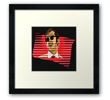 Jack Nicholson in Flag - Re-issue Framed Print