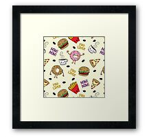 LOVE FOOD Framed Print