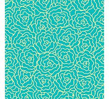 Elegance Seamless pattern with flowers, vector floral illustration in vintage style Photographic Print