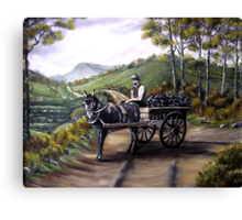 Bringing home the peat in Ireland - Oil Paintings Canvas Print