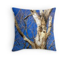 White Bark Tree Throw Pillow
