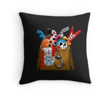 Five Nights at Freddy's 3 - Pixel art - What can we use? - Box of animatronics Throw Pillow