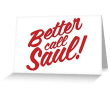 Better Call Saul Clean Text Greeting Card