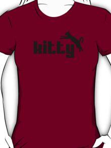 Kitty - funny puma logo cat parody T-Shirt