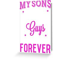 Favorite Sons Pink T-shirt Greeting Card
