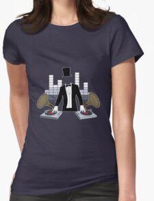 DJ Gramophone Womens Fitted T-Shirt