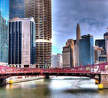 Vibrant Chicago River by Nim Sharon