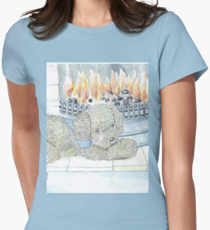 Rosie Dog by the Fire Womens Fitted T-Shirt