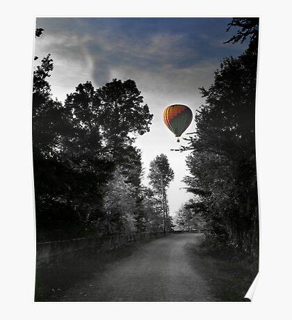 Ballooning over Augusta Poster