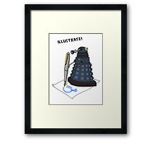 Dalek Hobbies | Dr Who Framed Print