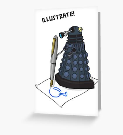 Dalek Hobbies | Dr Who Greeting Card