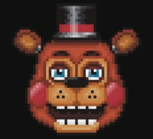 Five Nights at Freddy's 2 - Pixel art - Blue eyes Toy Freddy Kids Tee