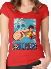 One Piece - Luffy Women's Fitted Scoop T-Shirt