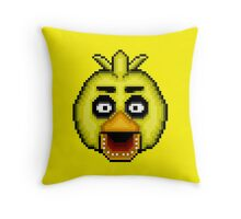 Five Nights at Freddy's 1 - Pixel art - Chica Throw Pillow