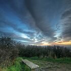 Lonely Bench - December by Louis-Thibaud Chambon