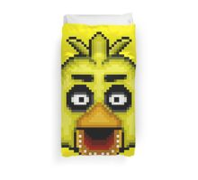 Five Nights at Freddy's 1 - Pixel art - Chica Duvet Cover