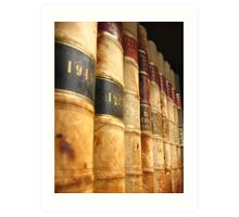 Early 1900 Law Books Perspective Shot Art Print