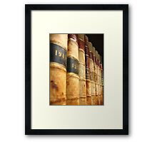Early 1900 Law Books Perspective Shot Framed Print