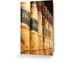 Early 1900 Law Books Perspective Shot Greeting Card