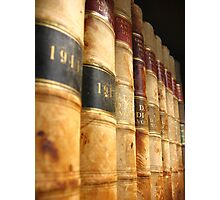 Early 1900 Law Books Perspective Shot Photographic Print