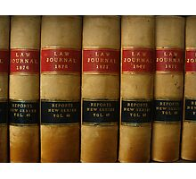 Row of Antique Law Books Circa 1800 Photographic Print