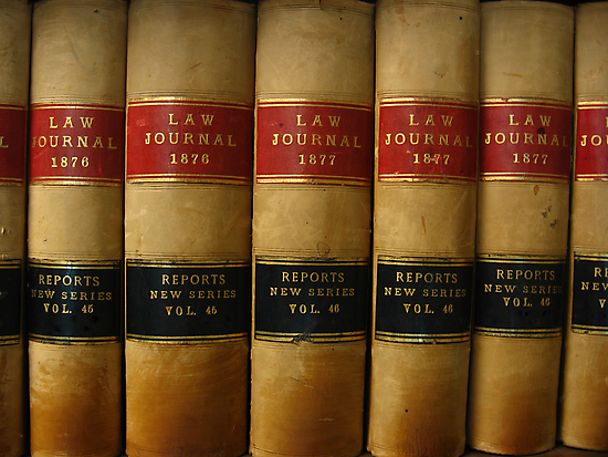 Row of Antique Law Books Circa 1800 by John Kroetch
