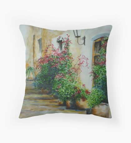 Pots and Plants at the Front Door Throw Pillow