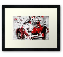 Formula 1 with Ferrari Framed Print