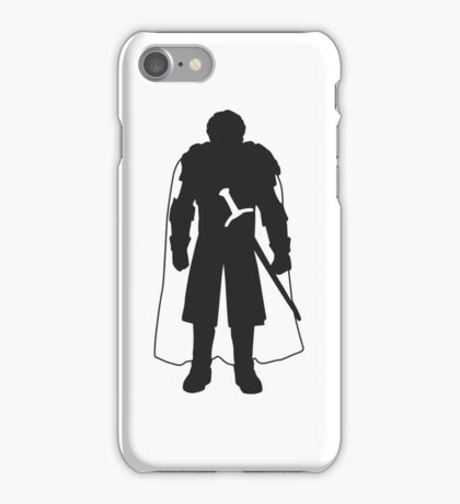 Robb Stark - Game of Thrones Silhouette  iPhone Case/Skin