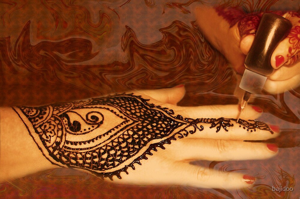 Henna Applied, Henna Tattoo Work, by Bajidoo by bajidoo