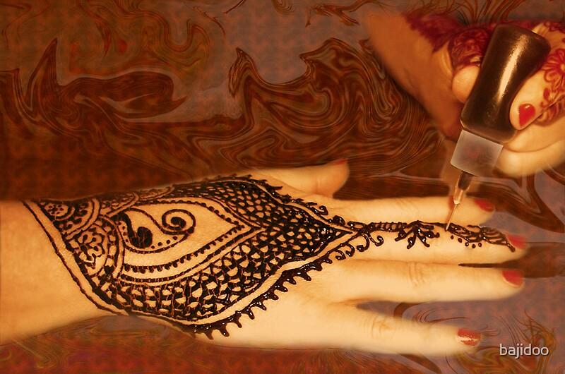 Henna applied henna tattoo work by bajidoo by bajidoo for Red henna tattoo