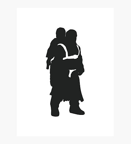 Hodor and Brann - Game of Thrones Silhouette Photographic Print