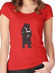 Hodor and Brann - Game of Thrones Silhouette Women's Fitted Scoop T-Shirt