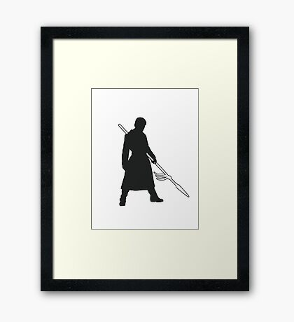 Prince Oberyn - Game of Thrones Silhouette Framed Print