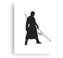 Prince Oberyn - Game of Thrones Silhouette Canvas Print