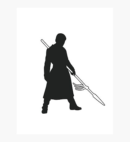 Prince Oberyn - Game of Thrones Silhouette Photographic Print