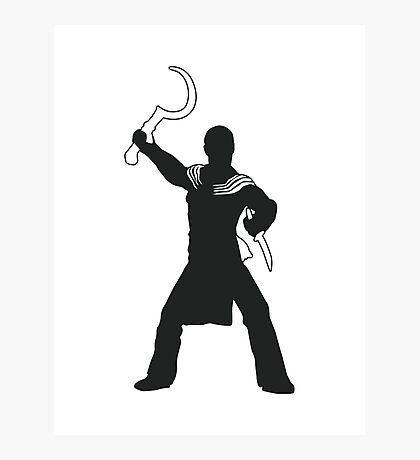Khal Drogo - Game of Thrones Silhouette Photographic Print