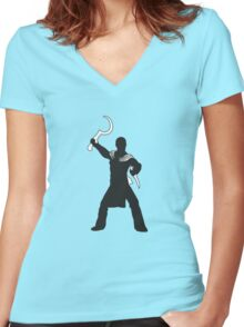 Khal Drogo - Game of Thrones Silhouette Women's Fitted V-Neck T-Shirt