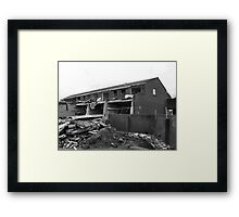 Under Demolition Framed Print