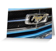 Blue Mustang Greeting Card