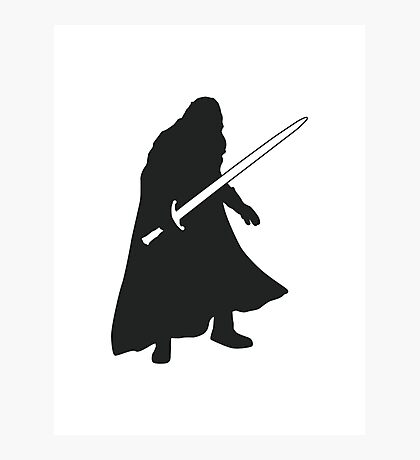 Jon Snow - Game of Thrones Silhouette Photographic Print