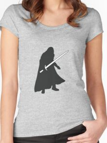 Jon Snow - Game of Thrones Silhouette Women's Fitted Scoop T-Shirt