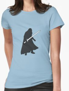 Jon Snow - Game of Thrones Silhouette Womens Fitted T-Shirt