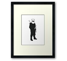 The Hound - Game of Thrones Silhouette Framed Print