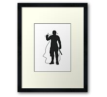 Jaime Lannister Kingslayer - Game of Thrones Silhouette Framed Print