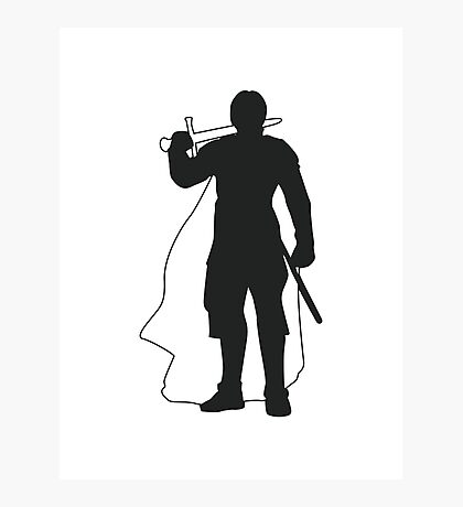 Jaime Lannister Kingslayer - Game of Thrones Silhouette Photographic Print