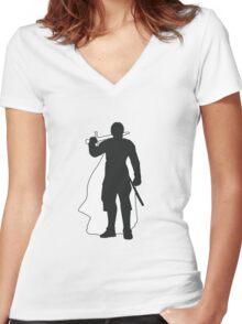 Jaime Lannister Kingslayer - Game of Thrones Silhouette Women's Fitted V-Neck T-Shirt