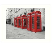 Red Telephone Boxes Art Print