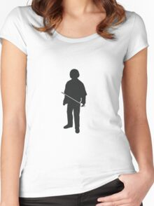 Arya Stark  - Game of Thrones Silhouette Women's Fitted Scoop T-Shirt